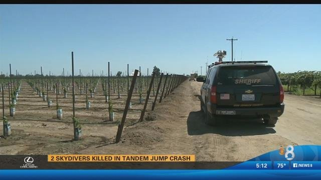 2 skydivers killed in tandem jump in California