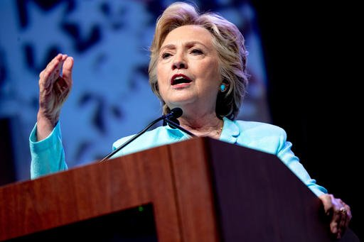 Democratic presidential candidate Hillary Clinton speaks at the 2016 National Association of Black Journalists' and National Association of Hispanic Journalists' Hall of Fame Luncheon at Marriott Wardman Park in Washington, Friday, Aug. 5, 2016. (AP Photo