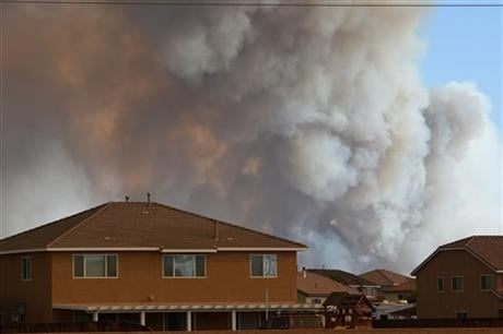 Lyn Sieliet says the area is dotted with ranches and farms. An evacuation center was set up in the desert town of Hesperia. (David Pardo/The Daily Press via AP)