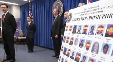 Keith Bolcar, acting Assistant Director in charge of the FBI in Los Angeles, speaks at a news conference announcing the arrests of dozens of people in an identity theft ring, Wednesday Oct. 7, 2009 in Los Angeles. U.S. and Egyptian authorities are arresti