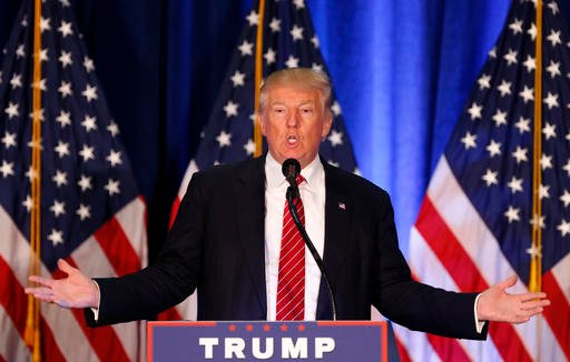 Republican Presidential candidate Donald Trump speaks in Youngstown, Ohio, Monday, Aug. 15, 2016. (AP Photo/Gerald Herbert)