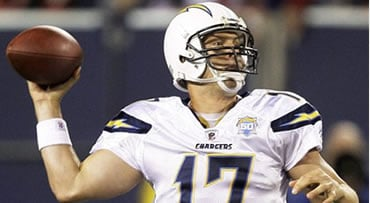 San Diego Chargers quarterback Philip Rivers (17) passes against the New York Giants in the third quarter of an NFL football game, Sunday, Nov. 8, 2009, in East Rutherford, N.J. The Chargers won 21-20. (AP Photo/Seth Wenig)