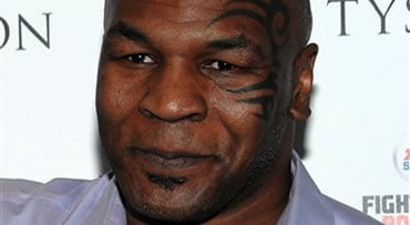 This Monday, April 20, 2009 picture shows former heavyweight boxing champion Mike Tyson in New York. Airport police said Tyson has been detained on suspicion of battery following an incident involving paparazzi at the United Airlines ticket counter at Los