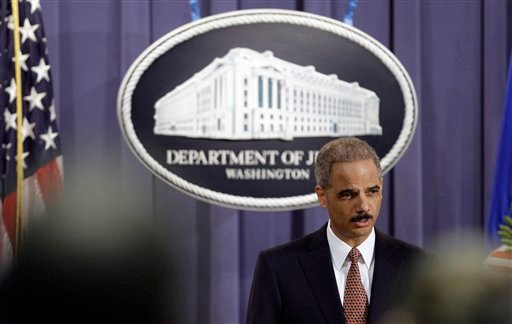 Attorney General Eric Holder speaks during a news conference at the Justice Department in Washington Friday, Nov. 13, 2009. (AP Photo/Alex Brandon)