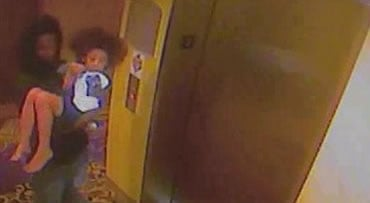 An image made from surveillance video shows a man carrying 5-year old Shaniya Davis in the hallway of a hotel in Sanford, NC. Davis was spotted in Sanford with a man identified as Mario Andrette McNeill, said Fayetteville Police spokeswoman Teresa Chance.