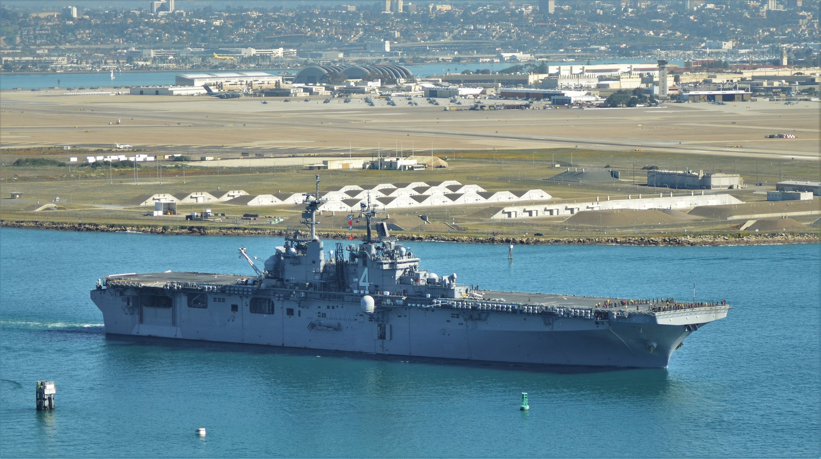 USS Boxer Amphibious Ready Group with the 13th Marine E. Unit departs San Diego. (02/12/2016   Photo courtesy YouTube.com)
