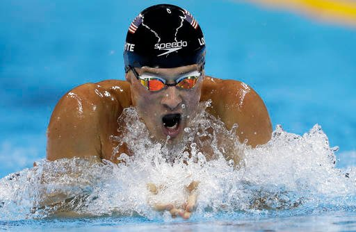 In this Aug. 11, 2016, file photo, United States' Ryan Lochte competes in the men's 200-meter individual medley final during the swimming competitions at the 2016 Summer Olympics, in Rio de Janeiro, Brazil. Speedo is the first major sponsor to drop swimme