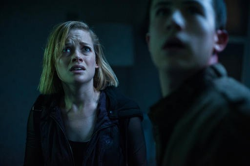 "This undated file image released by Sony Pictures shows Jane Levy, left, and Dylan Minnette in a scene from ""Dont Breathe."" According to studio estimates Sunday, Aug. 28, 2016, audiences turned out in droves for the late summer thriller, which brought in"