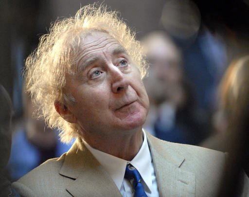 In this April 9, 2008 file photo, actor Gene Wilder listens as he is introduced to receive the Governor's Awards for Excellence in Culture and Tourism.