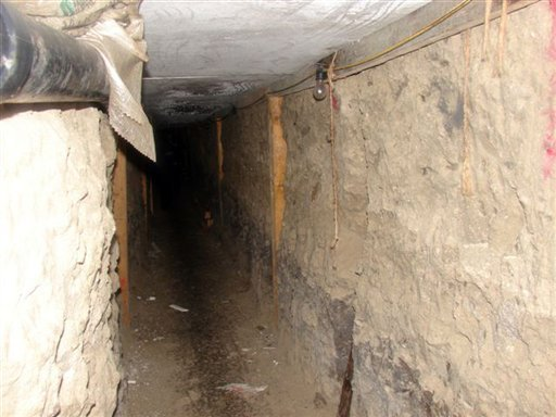 This image provided by the Drug Enforcement Administration on Wednesday Dec. 2, 2009 shows a tunnel discovered by Mexican officials in Tijuana, Mexico. (AP Photo/Drug Enforcement Administration)