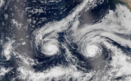 The National Weather Service issued a hurricane warning as the storm dubbed Madeline churned west Tuesday, Aug. 30, 2016, toward the island, urging residents to rush through preparations to protect themselves and their property and expect hurricane condit