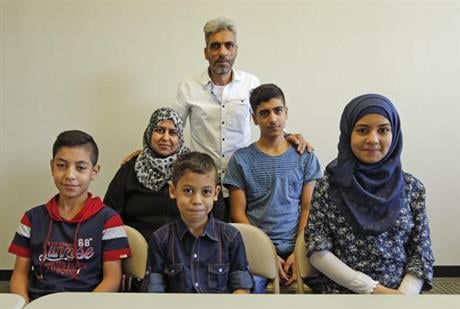 San Diego's newest Syrian refugee arrivals include the Jouriyeh family of six from the city of Homs. The family tells the AP they feel welcome in their new community of El Cajon, where many refugees are resettled where store signs are in Arabic and many s