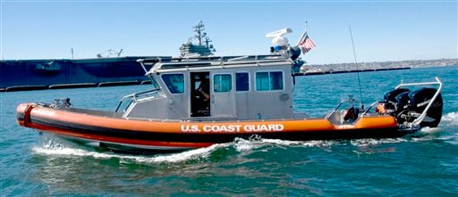 This undated photo provided by the U.S. Coast Guard shows a 33-foot Special Purpose Craft-Law Enforcement boat similar to one used Sunday, Dec. 20, 2009.