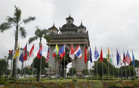 Laos is this year's host of the 28th and 29th ASEAN Summits and related summits that include the United States, Canada, Russia, China, Japan, Korea, Australia, New Zealand and India. (AP Photo/Bullit Marquez)