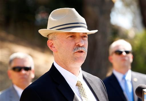 Sean Ragan, FBI special agent in charge of criminal investigation, addresses the media during a press conference at Cal Poly to inform the public of a renewed search for the remains of Kristin Smart at sites on the Cal Poly campus in San Luis Obispo, Cali