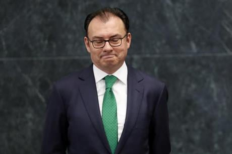 One of Pena Nieto's closest advisers and confidants, Videgaray handed in his resignation, in a move observers said was linked to the unpopular decision to invite Republican presidential nominee Donald Trump to visit Mexico. (AP Photo/Dario Lopez-Mills)