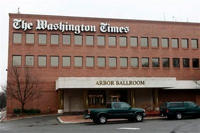 The Washington Times building is seen in Washington, on Thursday Dec. 31, 2009. The newspaper reportedly has laid off more than 40 percent of its employees.
