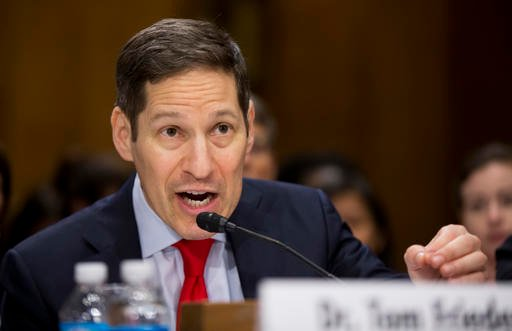 Centers for Disease Control and Prevention Director Tom Frieden testifies on Capitol Hill in Washington.