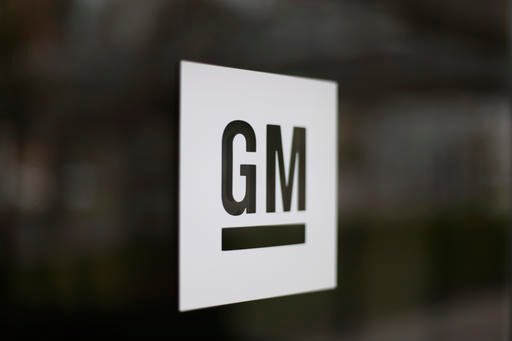 General Motors logo at the company's world headquarters in Detroit.