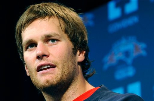 This is a Dec. 2, 2009, file photo showing New England Patriots quarterback Tom Brady during a media availability at the NFL football team's facility in Foxborough, Mass. (AP Photo/Gretchen Ertl, File)