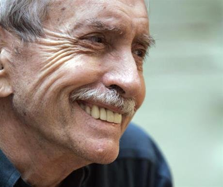 Albee assistant Jackob Holder says the playwright died Friday, Sept. 16, 2016, at his home on Long Island. No cause of death has been given. (AP Photo/Mary Altaffer, File)