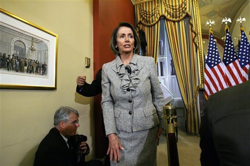 House Speaker Nancy Pelosi of Calif. leaves after a news conference on Capitol Hill in Washington, Thursday, Jan. 21, 2010. (AP Photo/Jose Luis Magana)