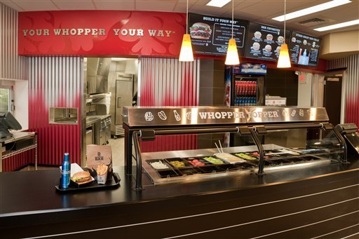 In this undated photo provided by Burger King, the Whopper Bar is shown in Miami Beach. Burger King is opening a restaurant in Miami Beach that will serve beer along with burgers and fries, the chain's first U.S. location with alcohol