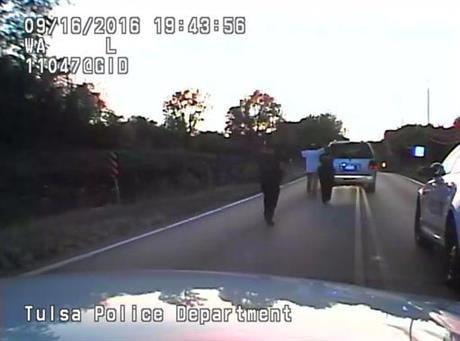 Crutcher was taken to the hospital where he was pronounced dead after he was shot by the officer around 8 p.m., Friday, police said. Crutcher had no weapon on him or in his SUV, Tulsa Police Chief Chuck Jordan said Monday, Sept. 19, 2016. (Tulsa Police De
