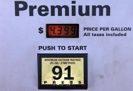 There is no sense paying a premium for premium gasoline if your car is designed to run on regular, according to research by the automobile club AAA. (AP Photo/Damian Dovarganes, File)