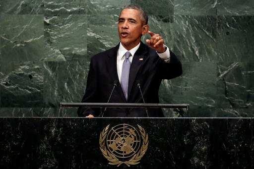 President Barack Obama addresses the 70th session of the United Nations General Assembly.