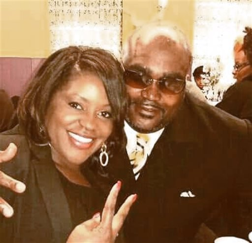 This undated photo provided by the Parks & Crump, LLC shows Terence Crutcher, right, with his twin sister Tiffany. (Courtesy of Crutcher Family/Parks & Crump, LLC via AP)