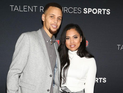 Feb. 6, 2016 file photo, NBA basketball player Stephen Curry and his wife Ayesha Curry arrive at the Super Bowl 50 Rolling Stone Party in San Francisco. (Photo by Omar Vega/Invision/AP, File)