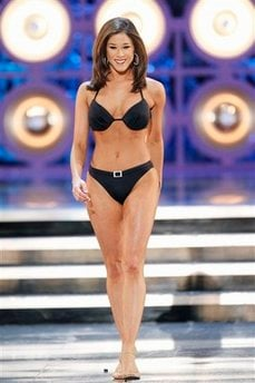 Miss California Kristy Cavinder competes during the 2010 Miss America Pageant. (AP Photo/Eric Jamison)