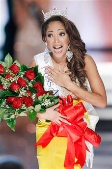 Miss Virginia Caressa Cameron reacts after being crowned Miss America. (AP Photo/Eric Jamison)