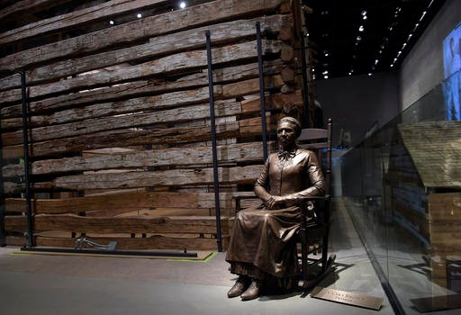 A statue of pioneer Clara Brown, who was born a slave in Virginia around 1800, is on display at the National Museum of African American History and Culture.