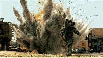 n this film publicity image released by Summit Entertainment,Jeremy Renner is shown in a scene from, 'The Hurt Locker.' (AP Photo/Summit Entertainment,File)
