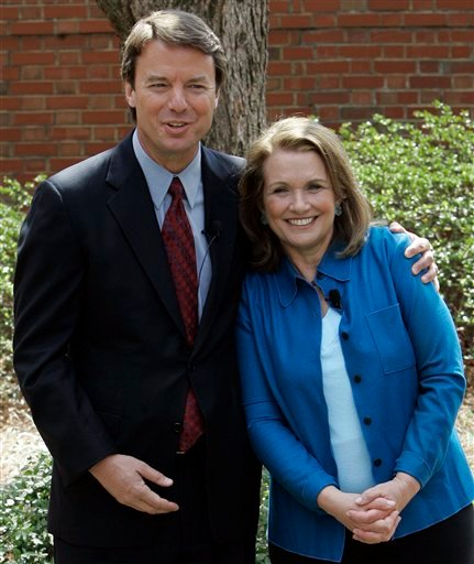 This March 22, 2007 file photo shows two-time presidential candidate John Edwards and his wife Elizabeth during a news conference in Chapel Hill, N.C. Elizabeth Edwards has separated from her husband.