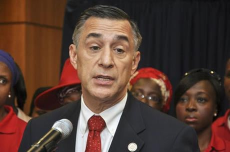 The eight-term lawmaker and chief antagonist of President Barack Obama and Democrat Hillary Clinton faces a tough challenge from Marine-turned-lawyer Doug Applegate. (AP Photo/Olamikan Gbemiga, File)