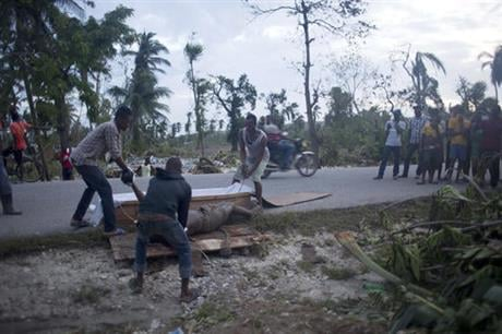 Emmanuel Pierre told The Associated Press that he expects the toll to rise as authorities reach remote places that were left isolated by the storm. ( AP Photo/Dieu Nalio Chery)