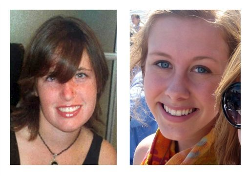 In this combination of photos, each released by the respective family, Amber Dubois, left, and Chelsea King, right, are shown.