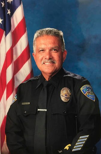 """(Palm Springs Police Department via AP). In this photo released by the Palm Springs Police Department shows slain officer Jose """"Gil"""" Gilbert Vega, a 35 year veteran who was killed in the line of duty Saturday, Oct. 8, 2016. Vega, the father of eight, p..."""