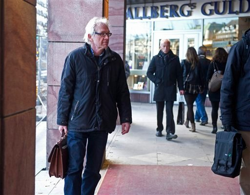 wedish artist Lars Vilks walks in the streets without protection in Stockholm, Sweden, Wednesday March 10 2010.