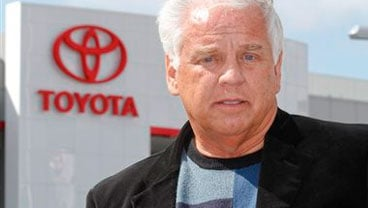 In this Tuesday, March 9, 2010 file photo, driver James Sikes talks about his experiences in his Toyota Prius during a news conference held at Toyota of El Cajon in El Cajon, Calif. (AP Photo/Denis Poroy, File)