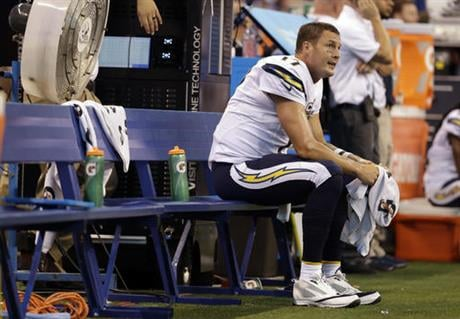 Rivers hopes the Chargers have run out of ways to lose games, because their season is spinning out of control going into Thursday night's home game against the AFC West rival Denver Broncos. (AP Photo/Jeff Roberson, File)