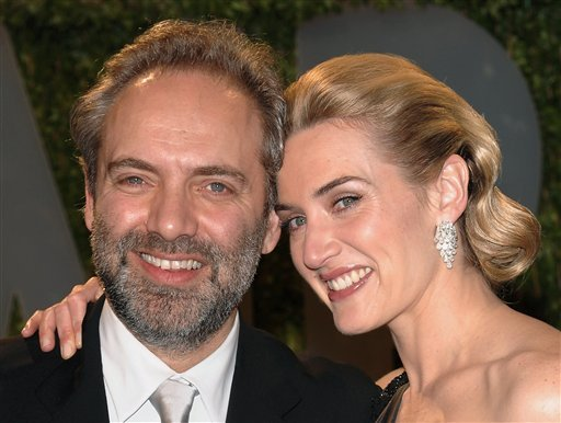 FILE - In this Sunday Feb, 24, 2009 file photo, actress Kate Winslet and husband director Sam Mendes arrive at the Vanity Fair Oscar party in West Hollywood, Calif. (AP Photo/Evan Agostini, file)