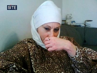 FILE - This undated file image provided by the SITE Intelligence Group shows Colleen LaRose, an American woman from Pennsylvania indicted and accused of using the Internet to recruit jihadist fighters and help terrorists overseas.