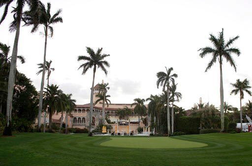(AP Photo/Lynne Sladky, File). FILE - In this March 11, 2016 file photo, the Mar-A-Lago Club, owned by Republican presidential candidate Donald Trump is seen in Palm Beach, Fla. A staple of Palm Beach's high-end philanthropy circuit, the Mar-a-Lago Cl...