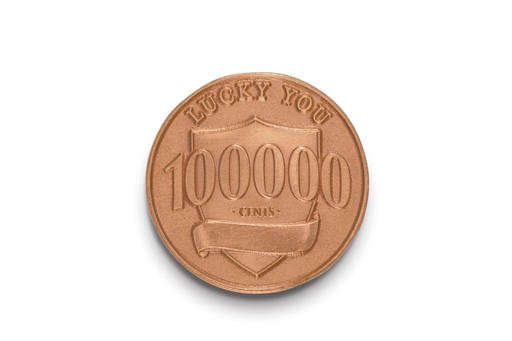 """This photo provided by Ally Bank shows a fake penny that is part of Ally Bank's """"Lucky Penny"""" promotion."""