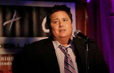 Gay rights activist Chaz Bono speaks during the Transgender Law Center 7th Anniversary event in San Francisco, Nov. 5, 2009. (AP Photo/Jeff Chiu)