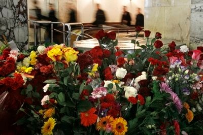 Flowers seen at the Park Kultury subway station in Moscow, Russia, ... AP Tue Mar 30, 10:22 AM ET Previous 13 of 145 Next  Flowers seen at the Park Kultury subway station in Moscow, Russia, Tuesday, March 30, 2010.